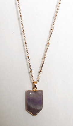 Amethyst Pendant Chain Necklace