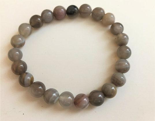 Botswana Agate Stretch Bracelet Healing Meditation Stones Chakra