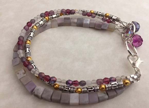 Purple Shaded Multi-Strand Bracelet