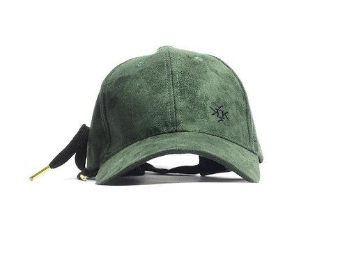 Lagoniassa LNA Faux Suede Baseball Cap Dark Khaki Green