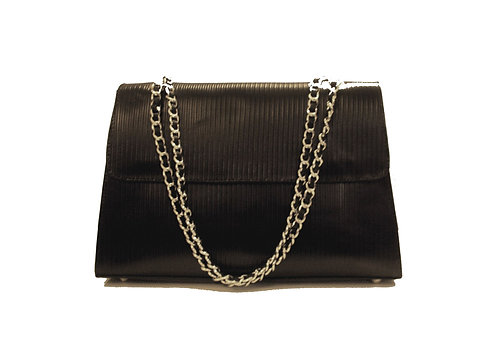 Jakar Maxi Handbag In Black Ribbed Effect