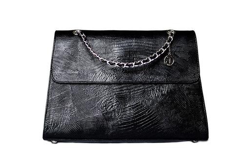 Jakar Maxi Handbag In Black Crocodile Effect
