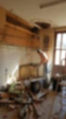 La cuisine pendant le chantier