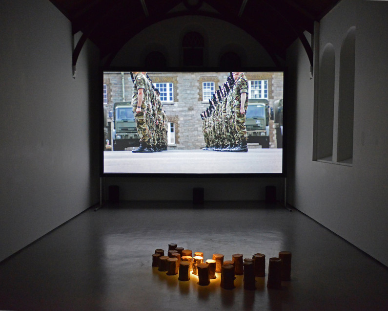 Political Land, Poetic Territory, Installation Shot 2 at St, Carthage Hall Lismore Castle