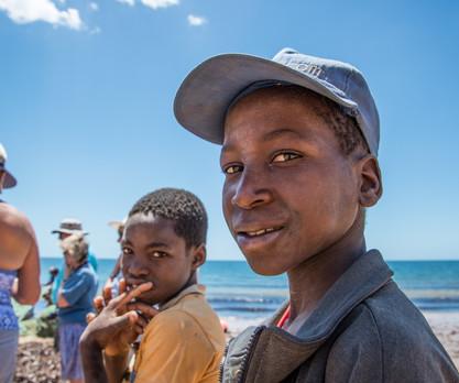 Boys on Mozambique beach