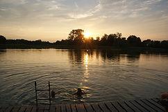 Schwimmen Ferienhaus am See