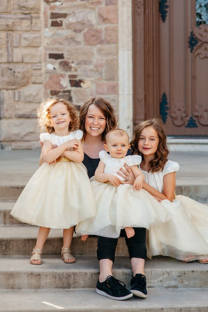 Mix and match flower girl dresses. Tutu