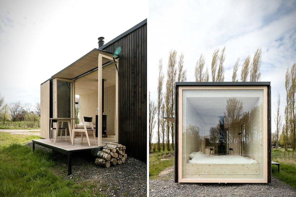 cabane en bois foret nature design bardage barry & associés extension
