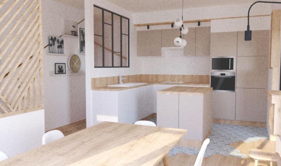 Barry & Associés I Projet de cuisine Vue 3D