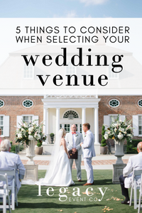 5 things to consider when selecting your wedding venue