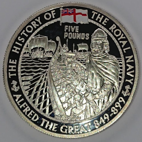 History of Royal Navy Collection Silver Proof Coin - Alfred The Great