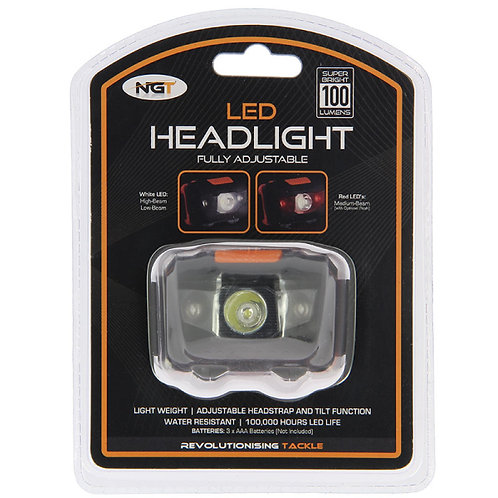 LED Headlight with White and Red Light (100 lumens)