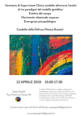 12 Aprile 2019 - Seminario di Supervisione Clinica