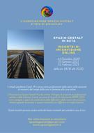 SPAZIO GESTALT IN RETE: Incontri di intervisione online 2020-2021