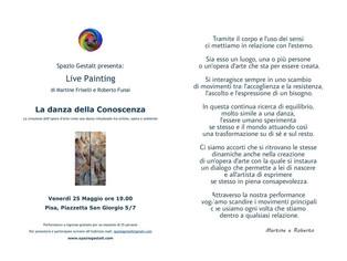 25 Maggio 2018: La danza della Conoscenza - Live Painting con Martine Friselli e Roberto Funai