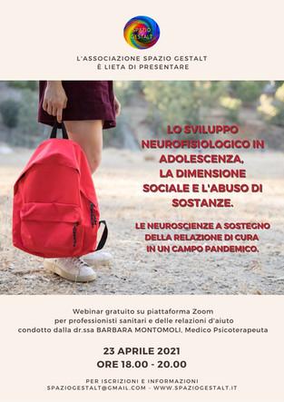 LO SVILUPPO NEUROFISIOLOGICO IN ADOLESCENZA - Webinar gratuito
