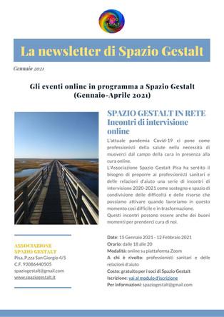 La Newsletter di Spazio Gestalt - Gennaio 2021
