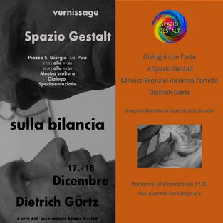 17 e 18 Dicembre 2016: VERNISSAGE SCULTURA e DIALOGO con l'ARTE