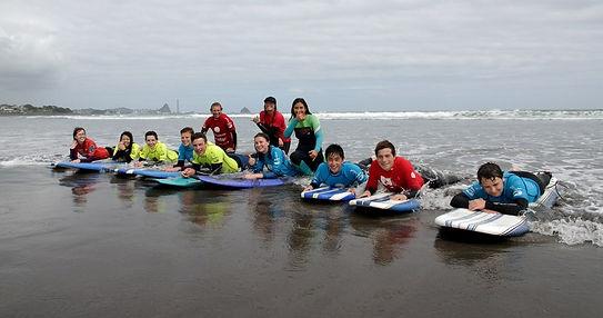 Surfen am Spotswood College