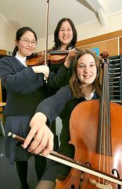 Im Schulorchester mitspielen...