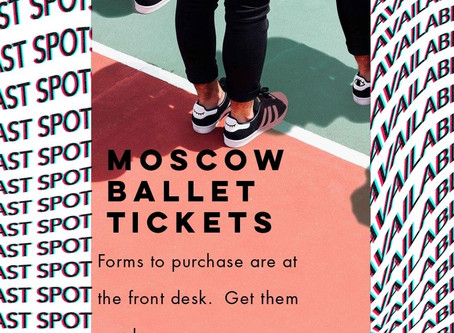 Moscow Ballet Tickets are available now!