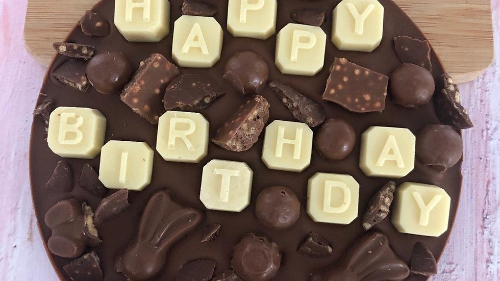 Large Happy Birthday Malteaser Belgian Chocolate Coin
