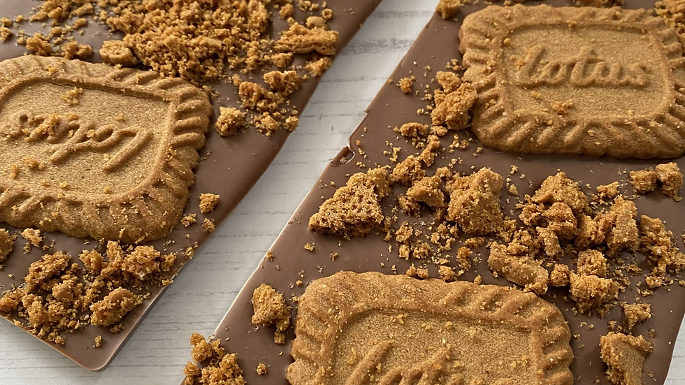 Biscoff Topped Belgian Chocolate Slab