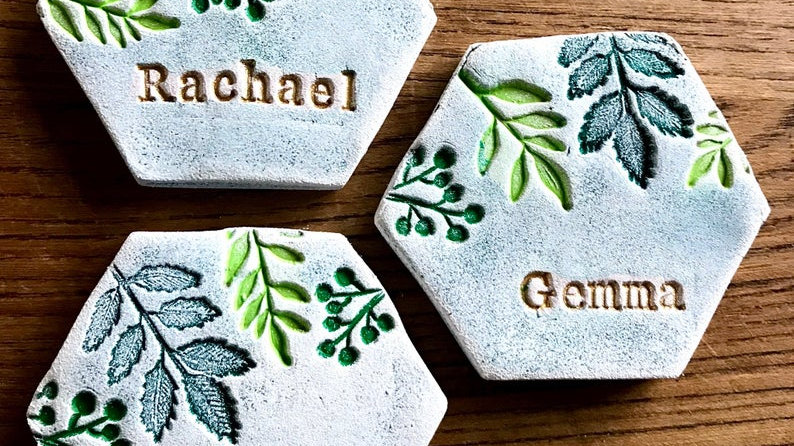 Personalised Clay Table Place Names