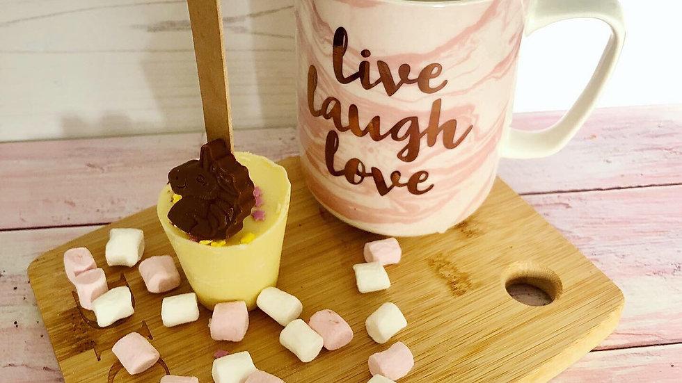Pack of 3 Handmade Belgian Chocolate Unicorn Hot Chocolate Spoons