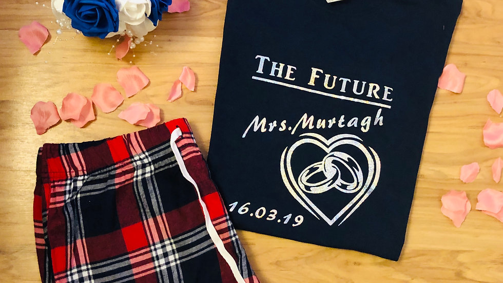 Personalised The Future Mrs Ladies Pyjamas