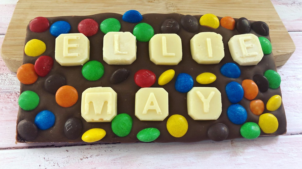 Personalised Belgian Chocolate Name Slab