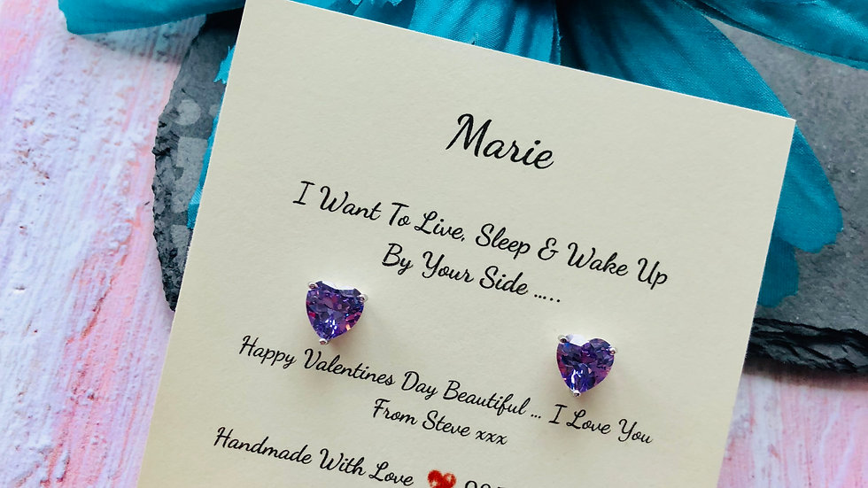 925 Sterling Silver & Swarovski Crystal Wife, Girlfriend, Fiancé Gift