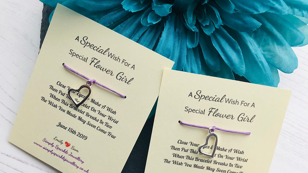 A Special Wish Wedding Favour Wish Bracelet