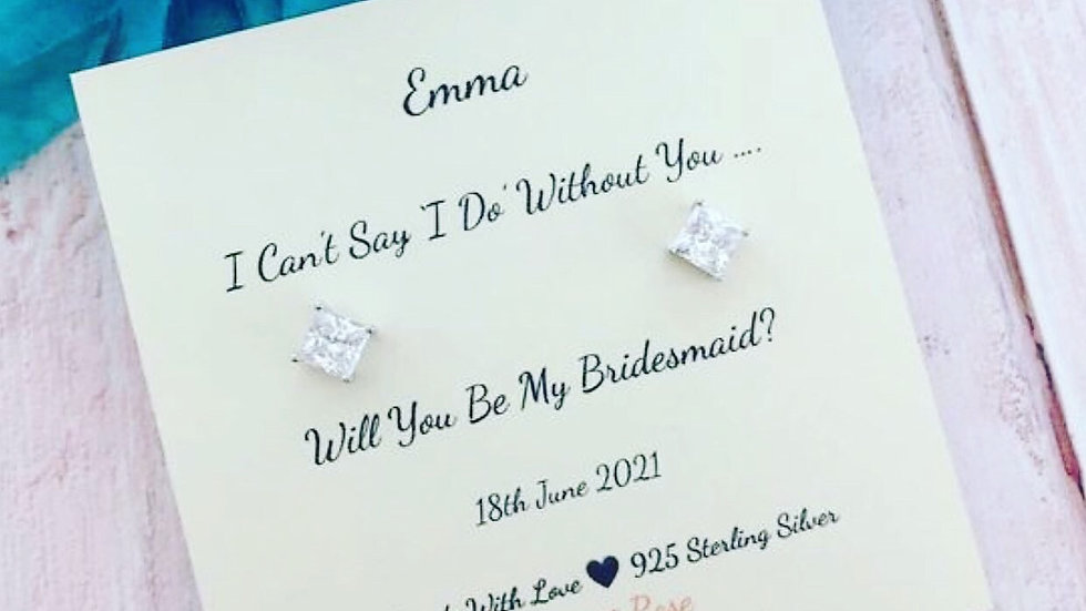 'I Can't Say I Do With Out You' 925 Sterling Silver Proposal Gift