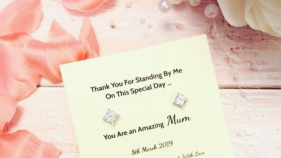 Mother of the Bride or Groom thank you gift - 925 Sterling Silver & Swarovski