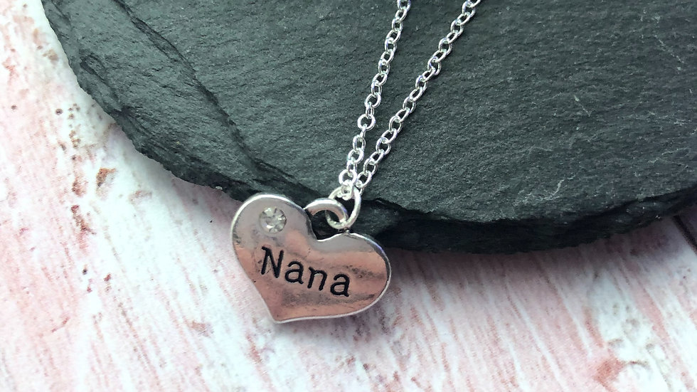 Handmade Sterling Silver Family Necklace