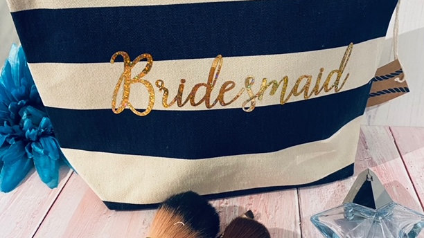 Large Personalised Bridesmaid Make Up / Wash Bag