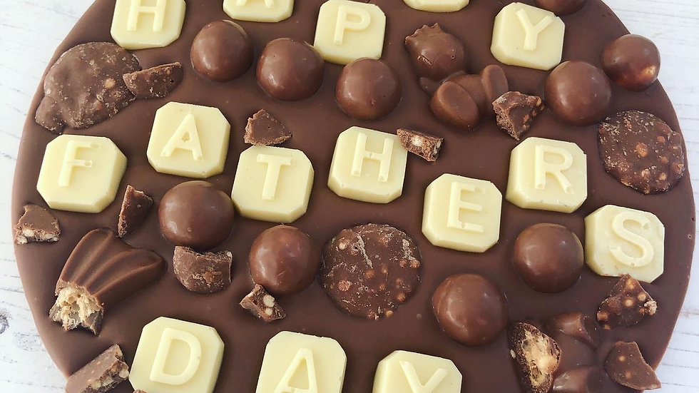 Large Happy Fathers / Mother's Day Malteaser Belgian Chocolate Coin