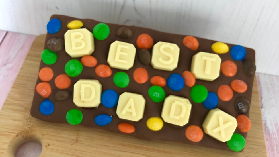 Handmade Personalised Belgian Chocolate Slab