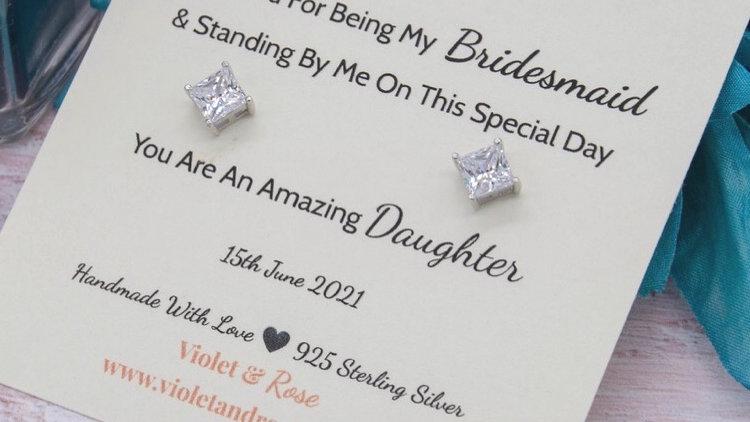 925 Sterling Silver & Swarovski Crystal Thank You Gift