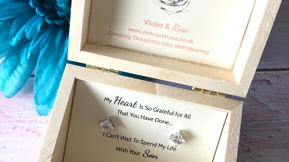 Mother of the Groom Gift - Sterling Silver Swarovski Crystal Earrings