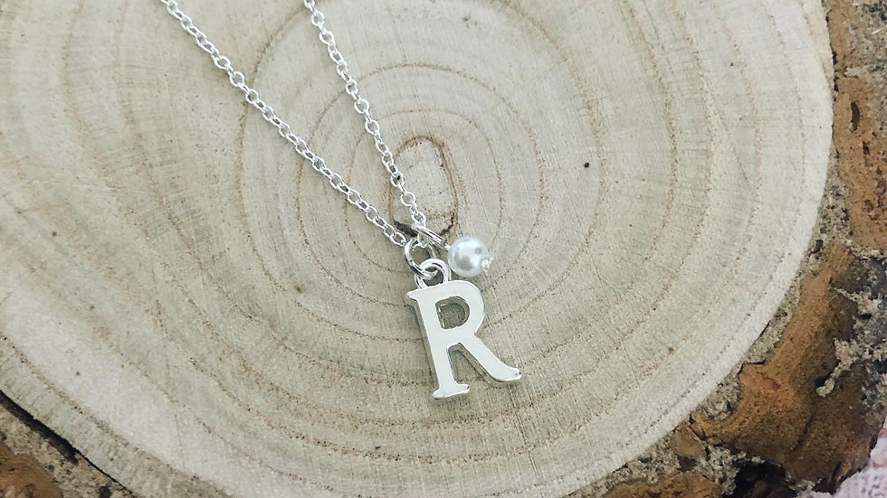 Create your own Sterling Silver Initial Necklace