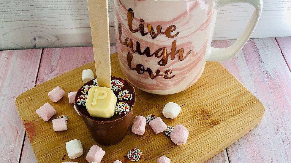 Pack of 3 Handmade Personalised Belgian Hot Chocolate Spoons