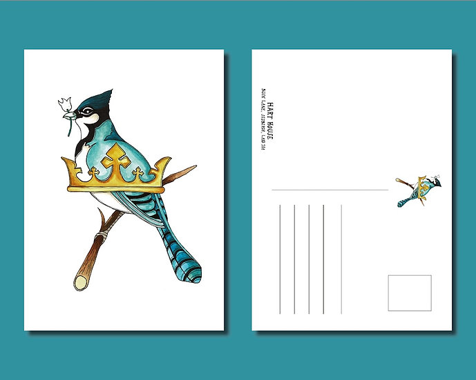 """Hart House """"The Jay"""" Postcard (Pack of 10)"""