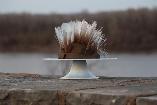 cakestand radioactive clay art connor dolan coldwater creek st. saint louis missouri river spines blood sculpture