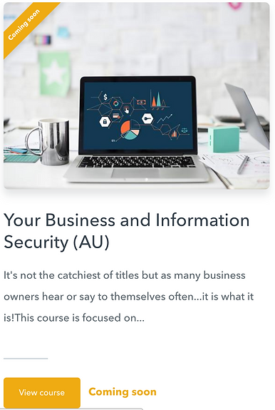 Your Business and Info Security course image