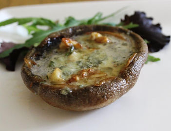 Dorset Blue Vinny Baked Mushrooms