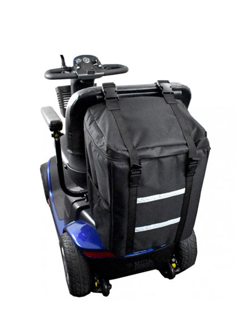 Scooter Accessory - Rear Bag for Scooters - Back Pack Style with Tightening Adju
