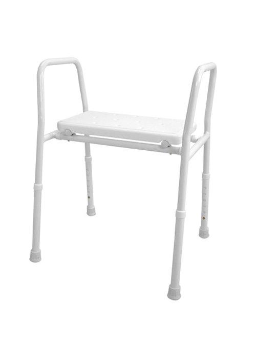Shower Stool - Aluminium Non-Padded Hero Medical 115kg(Folding/Collapsible Porta