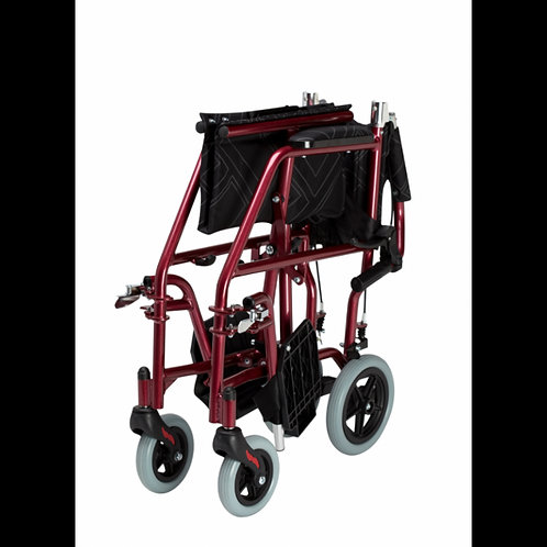 Omega LA1 Lightweight Transit Wheelchair (Blue/Gold/Red)